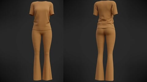Female Casual outfit - 3D clothing