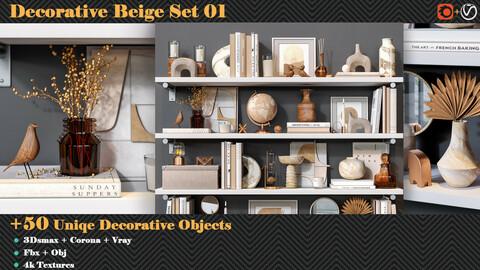 Decorative Beige Set 01