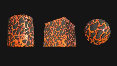Stylized Lava2 PBR Texture