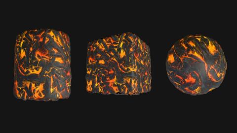 Stylized Lava3 PBR Texture