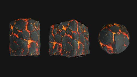 Stylized Lava4 PBR Texture