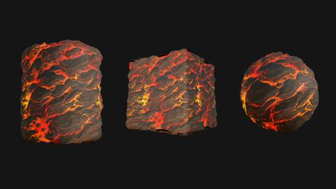 Stylized Lava6 PBR Texture