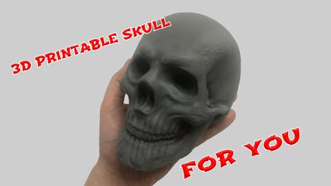 3d printable Skull