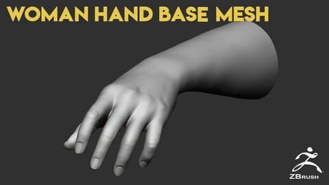 Woman Hand Base Mesh