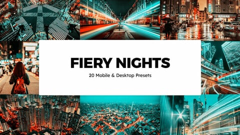 20 Fiery Nights LUTs and Lightroom Presets