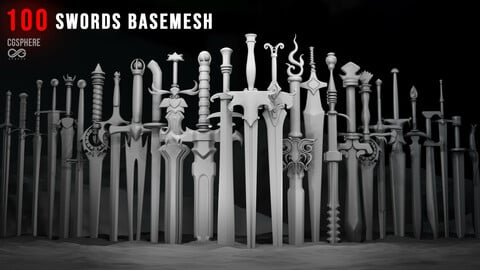 100 Medieval Sword Basemesh ( Clean Uv And Topology )