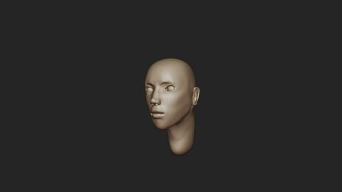 Female face