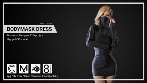 Bodymask Dress - Marvelous Designer, CLO project.