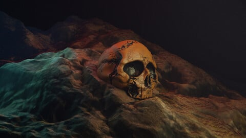 Death  Concept Art  |Skull render + project files |