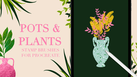 POTS AND PLANTS STAMP BRUSHES FOR PROCREATE