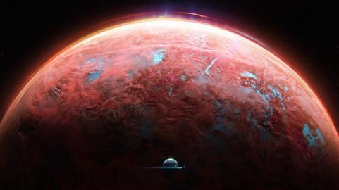 Pink planet (.blend .PSD).