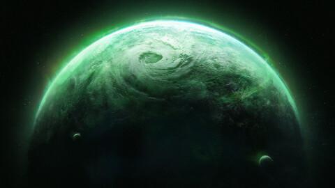 Green Planet 01 (.blend .PSD).