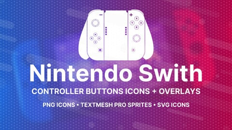 Nintendo Switch Buttons Icons + Overlays