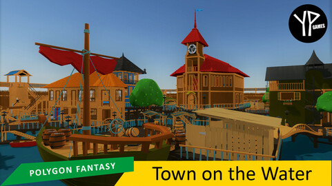 Unity POLYGON Fantasy Town on the Water Pack