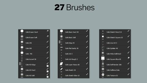 Cafe Brush Pack