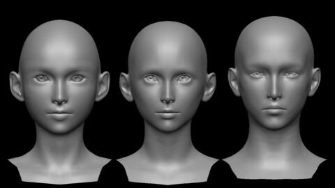 CGAsia Heads Creator - Female Version [Final Fantasy Style]