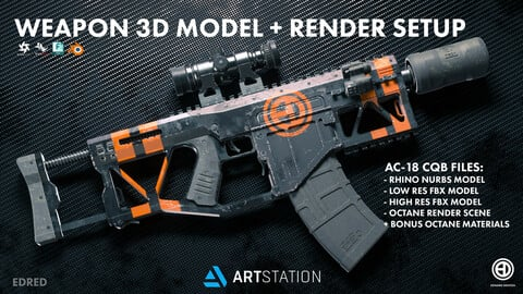 GUN 3D MODEL DOWNLOAD: AC-18:CQB