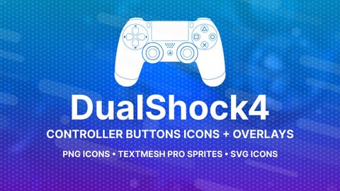 DualShock 4 Buttons Icons + Overlays