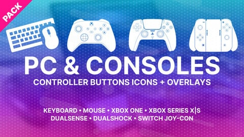 PC & Consoles Controller Buttons Icons Pack