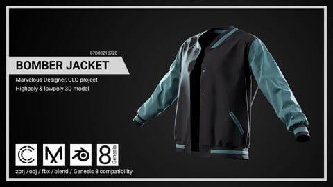 Bomber Jacket - Marvelous Designer, CLO project.