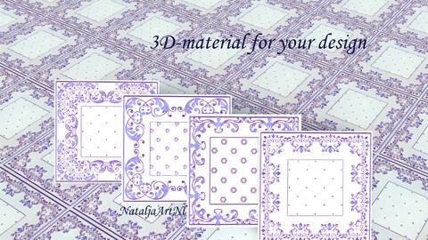 Realistic Tile materials/ 4-pack/ sbsar/ Substance 3D Dedigner