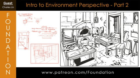 Foundation Art Group - Intro to Environment Perspective Part 2 with Charles Lin