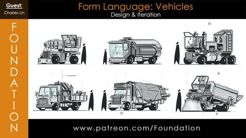 Foundation Art Group - Form Language: Vehicle Design and Iteration with Charles Lin