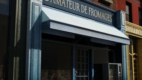 Old Paris Shop Facade