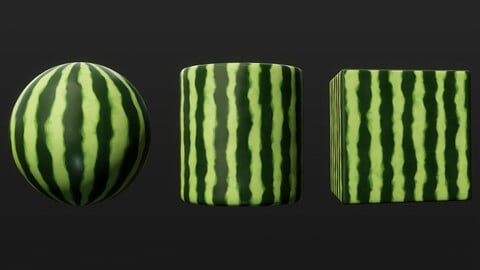 Stylized Watermelon - Substance Designer