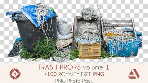 PNG Photo Pack: Trash Props volume 1