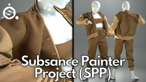 Substance Painter (.SPP) : Oversized bomber jacket