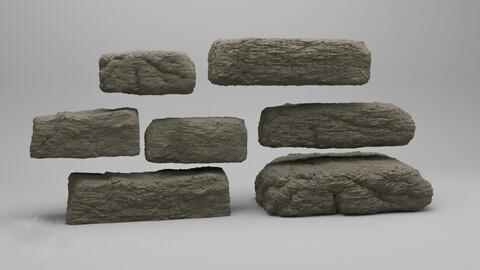 Destroyed rocks pack models