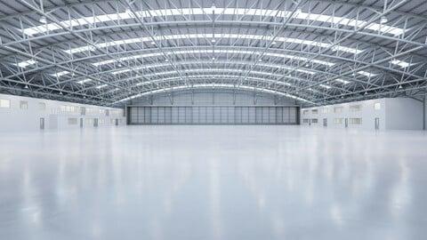 Airplane Hangar Interior 8b