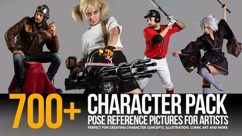 700+ Character Pose Reference Pictures