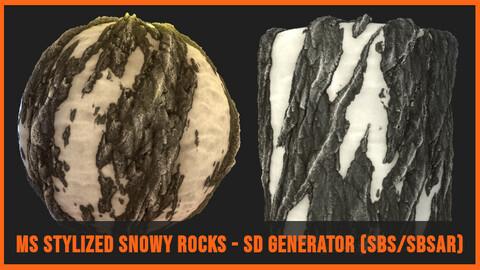 Stylized Snowy Rocks Generator