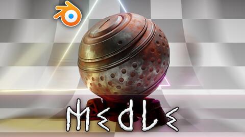 [Blender] Medle - Antique And Oxidize shader