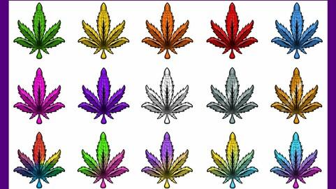 Twitch Sub Badges: 420 Leaf