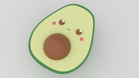 Cute Avocado - 3D Print Model