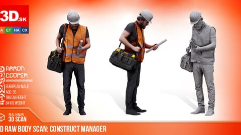 Cleaned 3D Body scan Construct Manager Standing