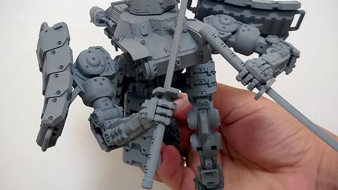 Mojo Hojo 3D Printable Mech Tank