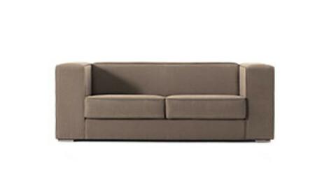 3 seater cafe interior studio design fabric sofa