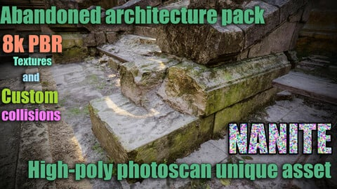 Abandoned architecture high-poly pack 8k PBR