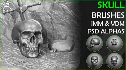 Skull Brushes and Alphas for ZBrush (IMM & VDM)