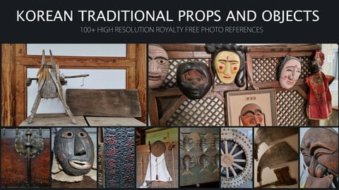 Traditional Korean Props and Objects - 100+ High-Resolution Royalty Free Photo References.