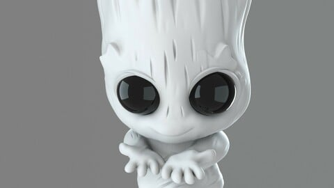 Baby Groot - Done for 3D Print