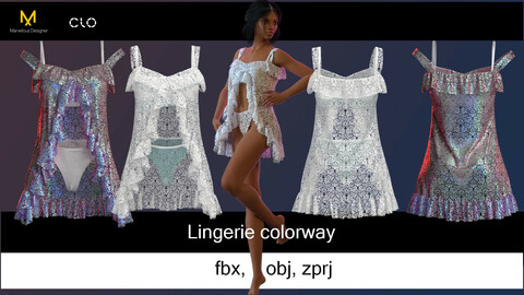 Women's lace Lingerie with a negligee
