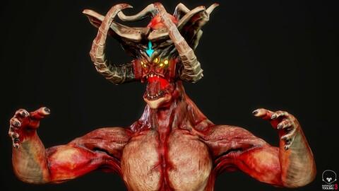 Monster Mutant 4 Low-poly 3D model