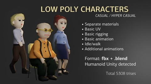 Low Poly Office Characters