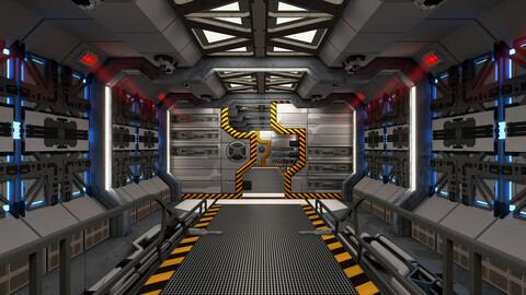 Spaceship Corridor Loop (4K)