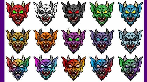 Twitch Sub Badges: Demons